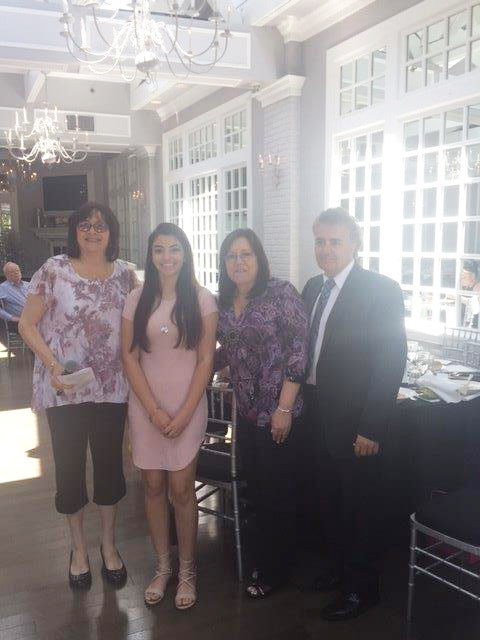 Nassau NYATP Scholarship Winner Elena Scarano with her faimily