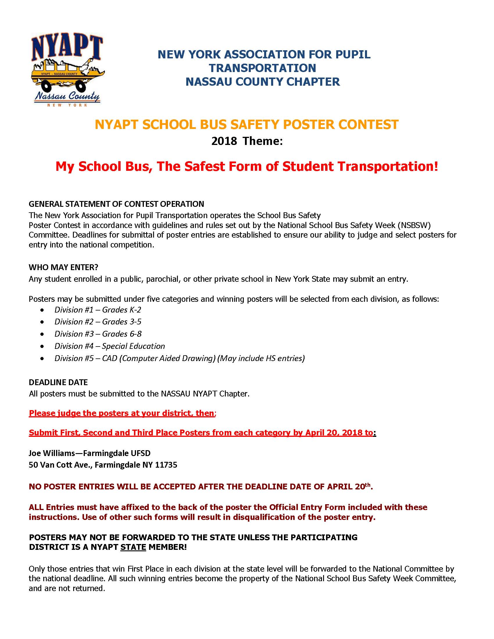 Nassau NYAPT Poster Contest 17-18